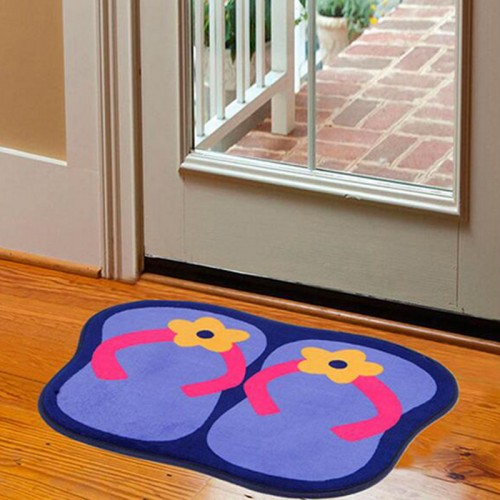 Cute Slippers Non Slip Bathroom Mat Microfiber Carpet for Home Bathroom Toilet Household Rug Memory Carpet