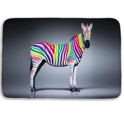 Fashion Cartoon Animal 3D bath mat Zebra Door Mat