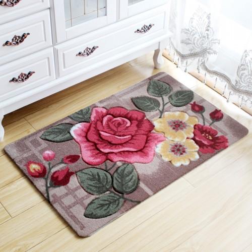Flower Carpet Kids Room Rugs Bathroom Carpet Doormat