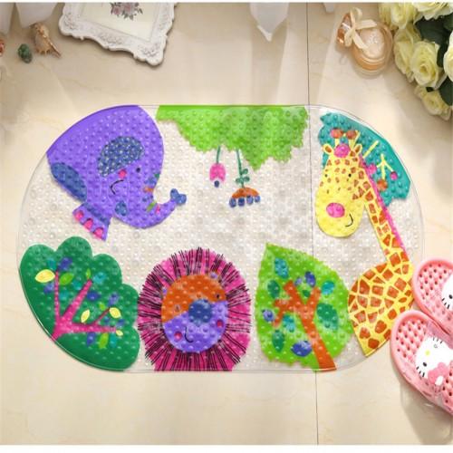 Flowers Animal PVC Bath Mat Anti Slip Bath Mats Suitable For Bathroom Toilet Foyer Floor Carpet