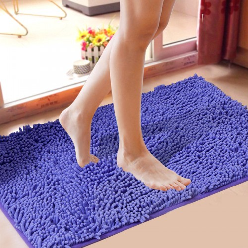 High Level Chenille Non slip Large Bathroom Rugs 15 Solid Colors Bathroom Rugs Bathroom Carpet 1pc