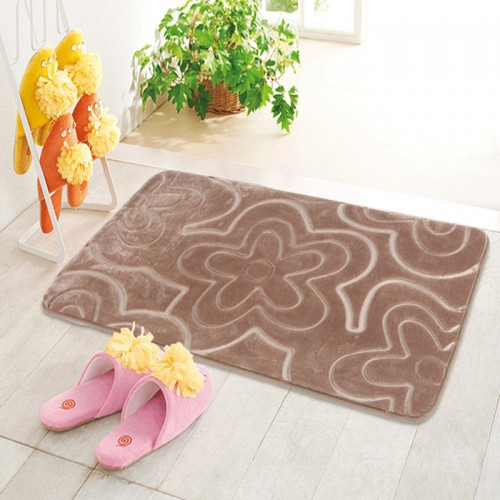 Memory Foam Bath Mat flower pattern Bathroom carpet Rug Non slip Bath Mat