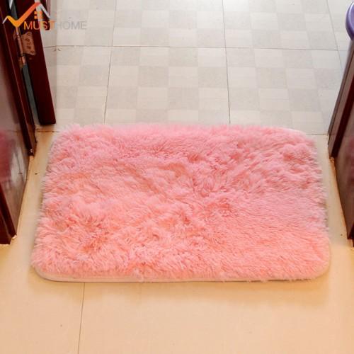 Modern Bathroom Bath Mat Anti Slip Rectangle Shaggy Bath Mat