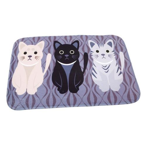 Novelty Cat Cartoon Animal Pattern Mat Bathroom Carpet Living Room Bedroom Rug Floor Table Mats Non