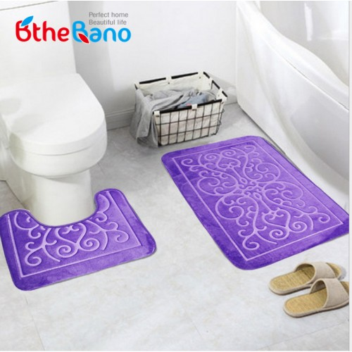 Toilet Pattern Bath anti slip Mat Geometric design bathroom Rug Mat
