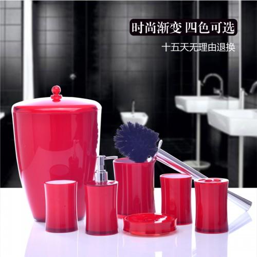 New Hot Sale Toothbrush Holder Banheiro European Minimalist Bathroom Suite Seven Piece Wash Gargle Cup