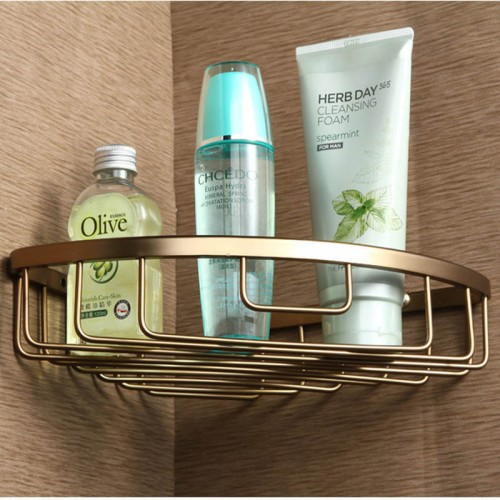 New bathroom racks solid space aluminum triangular basket basket shelves bathroom accessories