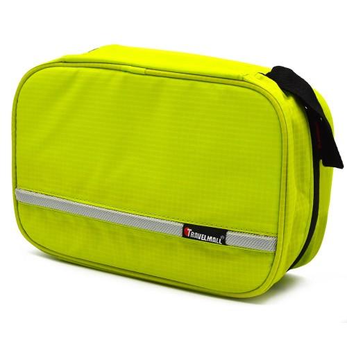 Portable Travel Oxford Cloth Foldable Hanging Toiletry Bag Wash Shaving Bag Cosmetic Toilet Bag Green