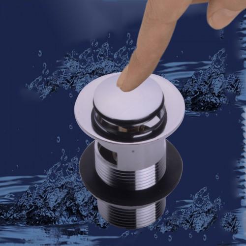 Press flip bath waste zinc alloy chrome plated high quality basin waste floor