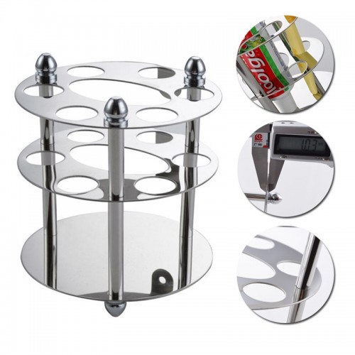 Stainless Steel Bathroom Toothbrush Toothpaste Holder Razor Organizer Oval Toothbrush Tooth paste Storage Rack High Quality