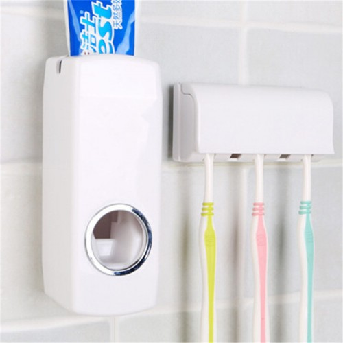 Tooth Brush Holder Automatic Toothpaste Dispenser 5 Toothbrush Holder Wall Mount Stand Bathroom Tools