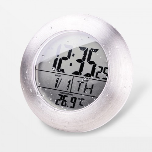 Waterproof Bathroom Electronic LED Digital Clock Super Induction Thermometer