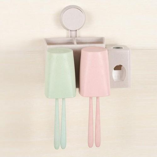 toothpaste dispenser toothbrush wall suction bathroom set sucker toothbrush holder