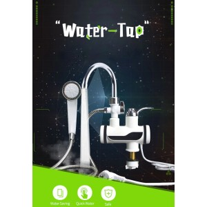 Electric Instant Hot Water Faucet With Shower Head LED Temperature Display Tankless For Kitchen Shower