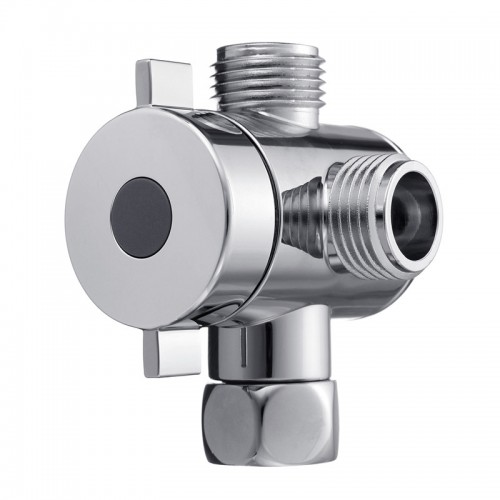 G1 2 Three Head Function Switch Adapter Control Valve 3 Way Tee Connector Shower Head Diverter