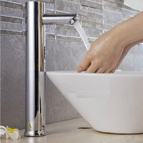 Hands Free Automatic Sensor Tap Hot Cold Water Bathroom Basin Faucet Sink Mounted 220V or 6V