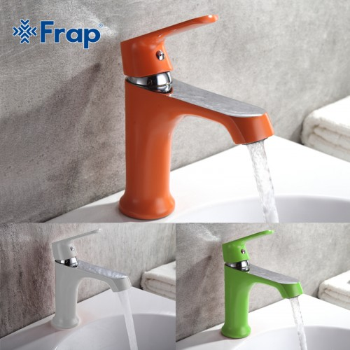 Innovative Fashion Style Home Multi color Bath Basin Faucet Cold and Hot Water Taps Green