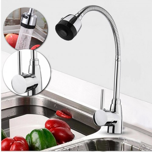 New Zinc Alloy 360 Degree Rotatable Faucet High Quality Hot Cold Mixer Tap Kitchen Wash Basin