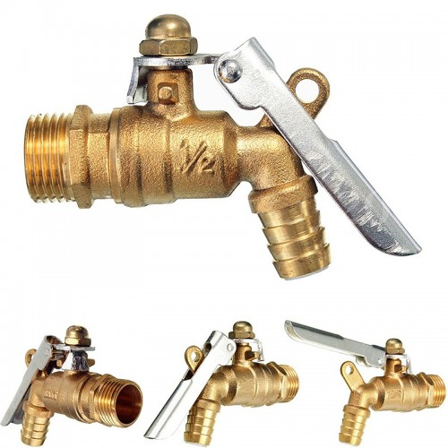 Public Places Lockable 1 2 inch Faucet Locked Brass Water Tap For Outdoor Garden Tools