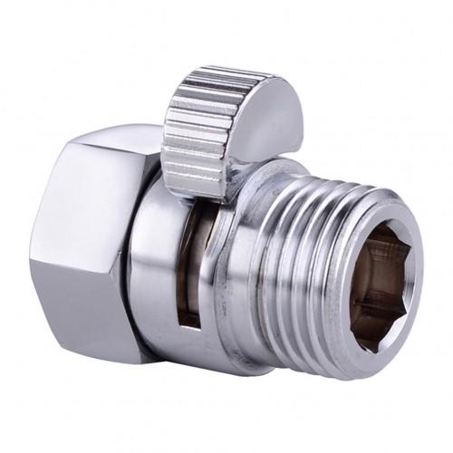 Shower Pressure Valve Solid Brass Water Control Valve Shut Off Valve for Bidet Sprayer or Shower