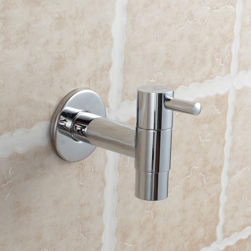 Wall Mounted Brass Washing Machine Faucet Single Handle Chrome Finish Water Tap Brass Bibcocks