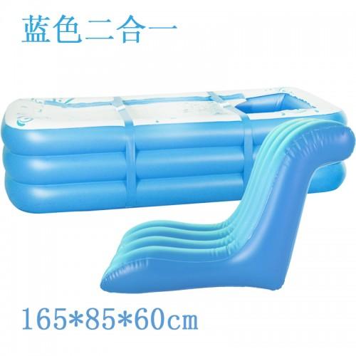 Electric Pump Inflatable Bathtub Thickening Tub Folding Bath Basin Plastic Bath