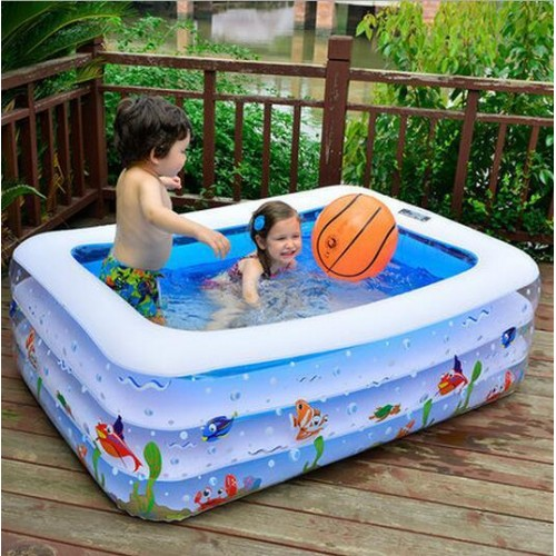Family Pool infant swimming pool baby child Oversized inflatable paddling pool kids garden bathtub