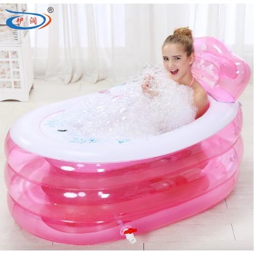 Pump Thickening Inflatable Bathtub Adult Tub Folding Bath Bucket