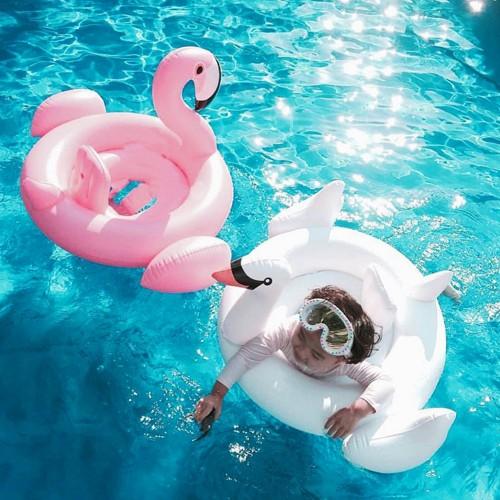 Summer Baby Flamingo Swimming Ring Inflatable Swan Swimming Float Water Fun Pool Toys Swimming Ring Kids