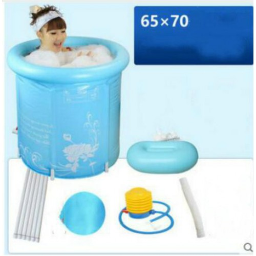Thick folding tub inflatable bathtub without cover adult bath pool children tub