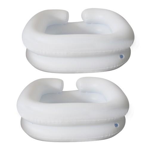 White Shampooer Basin Icarekit Deluxe Inflatable Bed Shampooer Basin