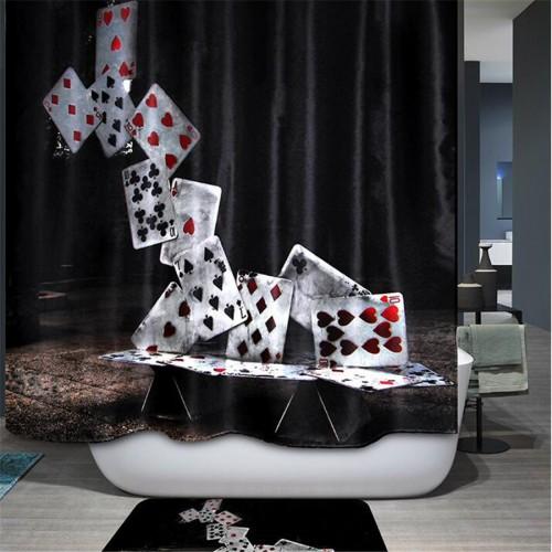 Modern fashion funny 3d Shower Curtains WaterProof Fabric bath curtain sea scenery curtain for bathroom Accessiories