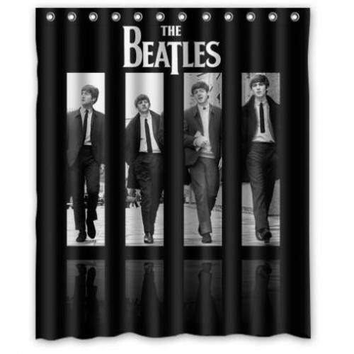 New Arrival The Beatles Waterproof Shower Curtain