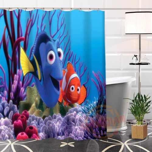 New Eco friendly Custom Unique Finding Nemo Fabric Modern Shower Curtain bathroom Waterproof for yourself H0220