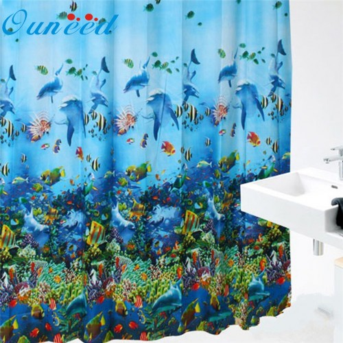 Ouneed Curtains Colorful Bright Waterproof Shower Curtain Bathroom IUT6527 DROP SHIP