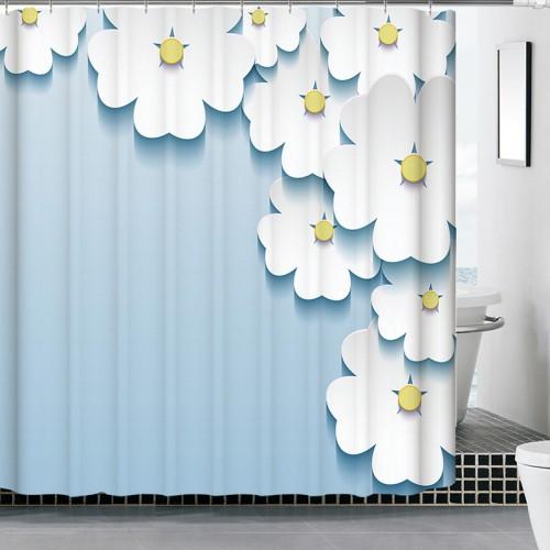 Polyester Shower Curtains Freehand 180x180cm 3D Waterfull Bath Screens Rideau De Douche Bathroom Curtain Cortina Ducha