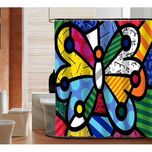 Romero brito Waterproof Custom Shower Curtain Latest Fashion Bathroom Decor fabric Bath screens curtain