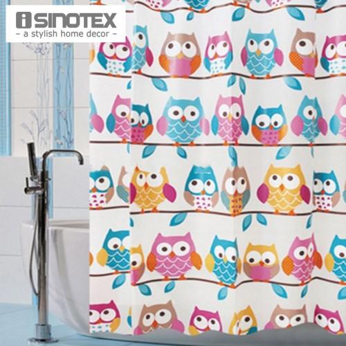Shower Curtain printed Owls Waterproof Fashion Curtain