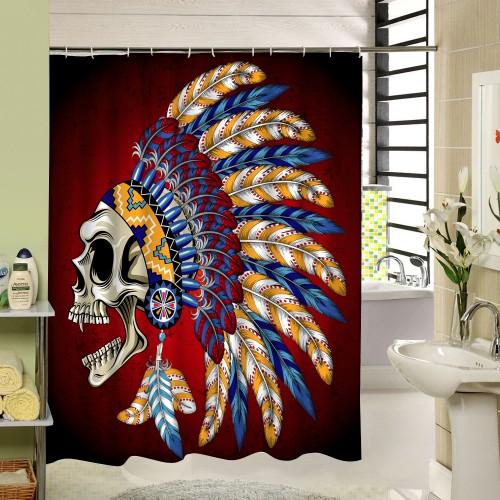 Skull Custom Shower Curtains Fashion Beautiful Bathroom Products High Quality Waterproof Shower Curtain YH 062