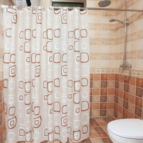 Thicken Geometric Figure Shower Curtain Bathroom Waterproof Bath Curtain