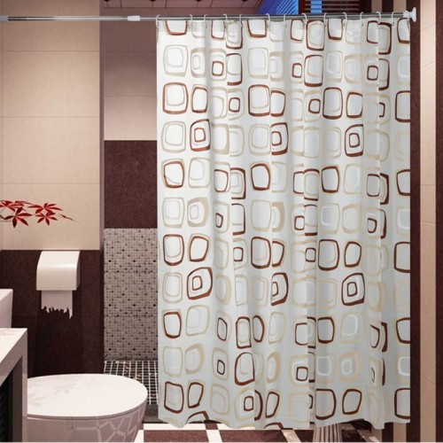 WaterProof bath Curtain Square Pattern Home curtains Bathroom Shower Curtain PEVA fabric shower curtain Free Shipping