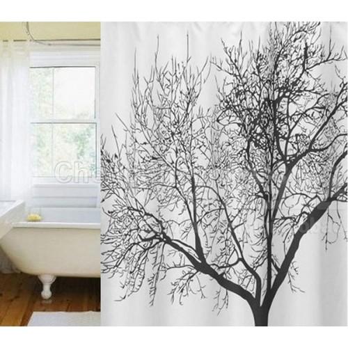 Waterproof Fabric Bathroom Big Black Tree Scenery Home Shower Curtain Bathroom Product