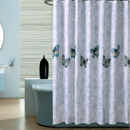 modern elegant cutrain waterproof bath curtain for bathroom products butterfly shower