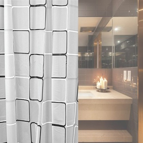 variety sizes New Shower Curtain With Black white Grid Print Waterproof