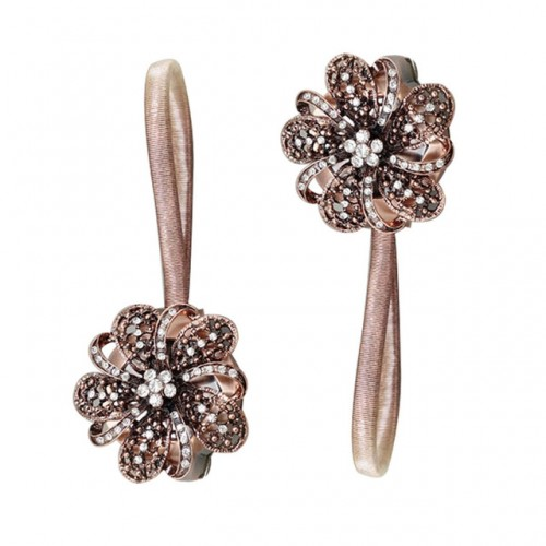 Hot Sale 1pcs Window Decorating Flower Curtain Tieback Magnet Curtains Buckle Clip Steel Wire Curtain Strap.