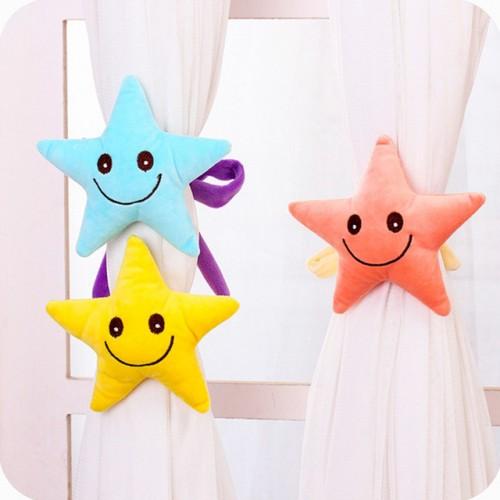 Hot Sale Baby Kid Cartoon Curtain Buckle Hook Pentagram Curtain tieback Bedroom Window Accessories 5 Colors.