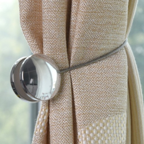 Simple Magnet Two Round Free Installation Curtain Buckle Living Room Tiebacks Magnetic Buckle Holder Window Curtains.