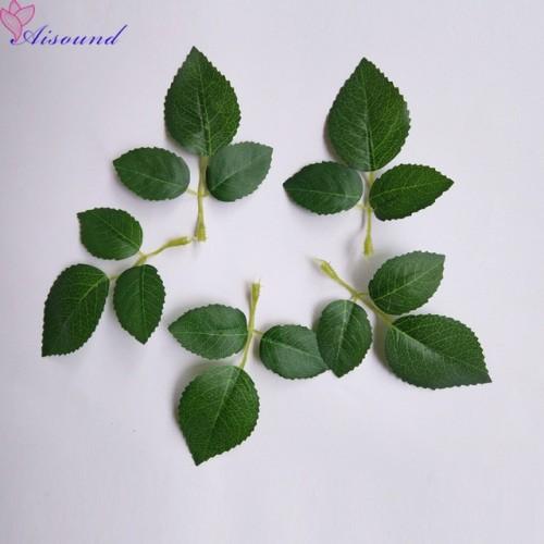 40pcs Artificial Silk Rose Leaves Artificial Greenery For Wedding Decor DIY Floral Craft Bouquet Garland Flower