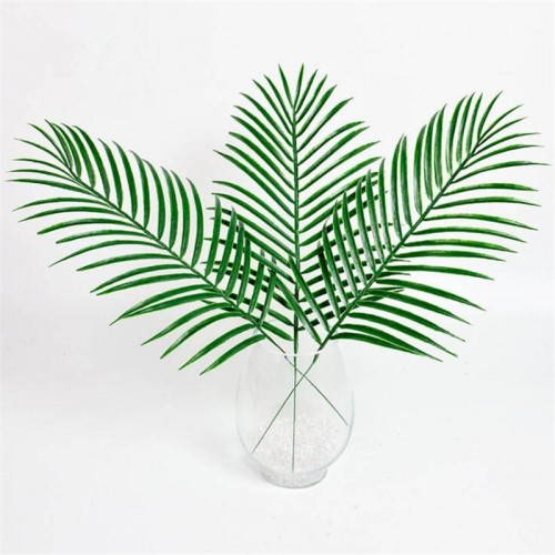 48pcs Plastic Leaves green plants Fake Palm Tree Leaf Greenery for Floral flower Arrangement flore wedding