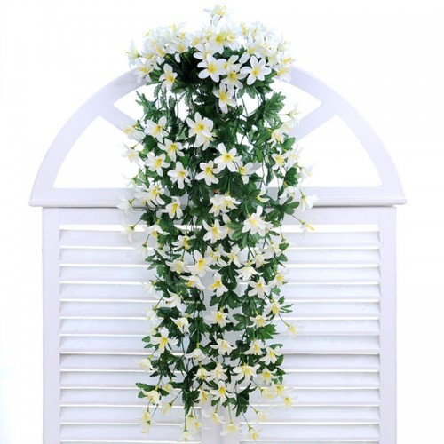 Flower rattan lily hanging wall hanging orchid basket living room home decoration flower artificial